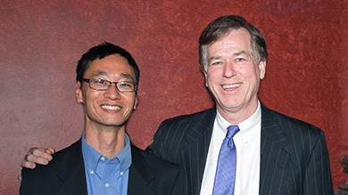 Andrew Youn with Harry Kraemer