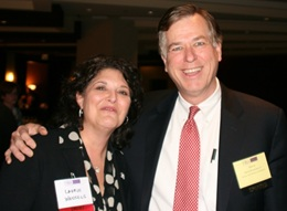 Harry with Healthcare Businesswomen's Association (HBA) Chicago chapter president, Laurie Wessels