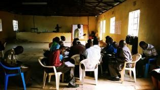 Kenyan farmers in OAF training session