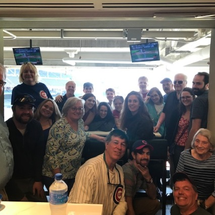 Here's the entire gang at Wrigley!!